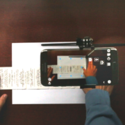 Scanning folded receipts